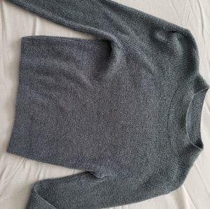 Forever 21 crop sweater - deep teal/turquoise